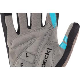 Roeckl Mileo Handschuhe schwarz/türkis